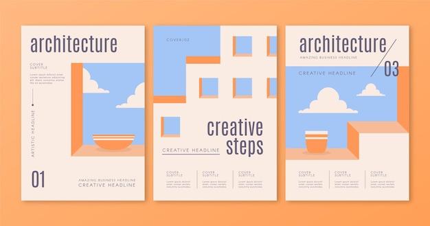 Die minimale architektur deckt den vorlagensatz ab