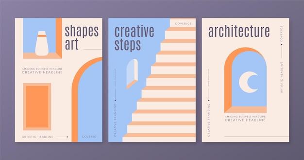 Die minimale architektur umfasst die vorlagensammlung