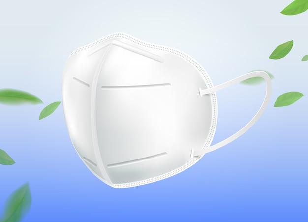 Die n95-maske schützt vor kleinem staub pm2.5, keimen, viren, covid-19, bakterien und kleinen sekretpartikeln. für gute hygiene.