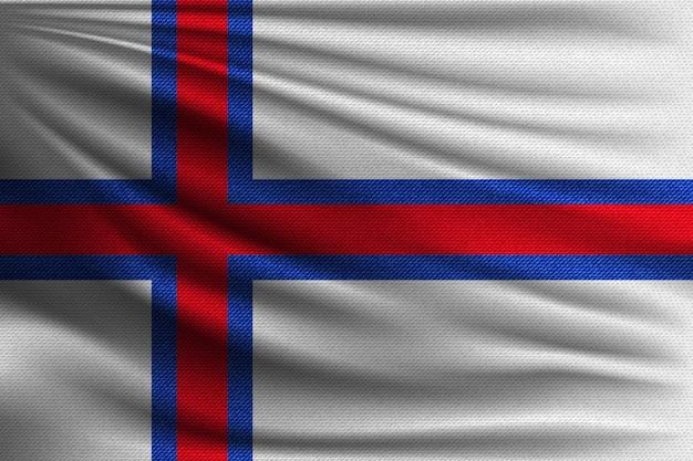 Die nationalflagge der färöer.