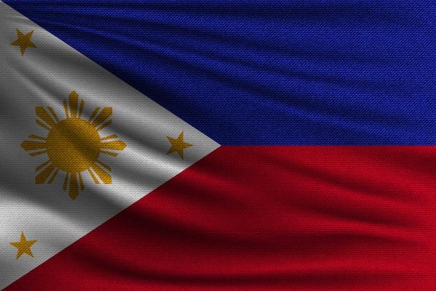 Die nationalflagge der philippinen.