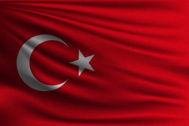 Die nationalflagge der türkei.