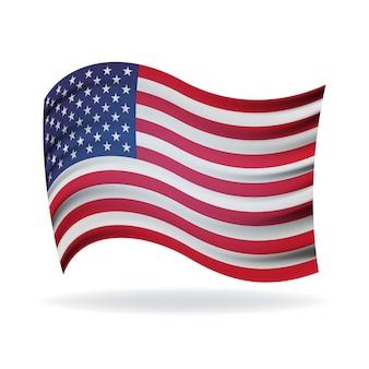 Die nationalflagge der vereinigten staaten von amerika flagge der usa amerikanische flagge für den unabhängigkeitstag