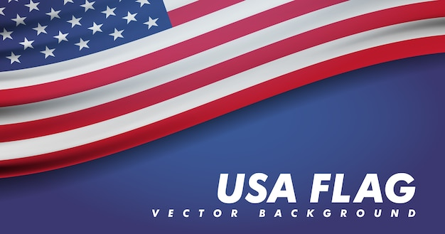Die nationalflagge der vereinigten staaten von amerika