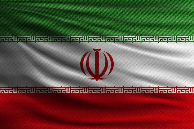 Die nationalflagge des iran.