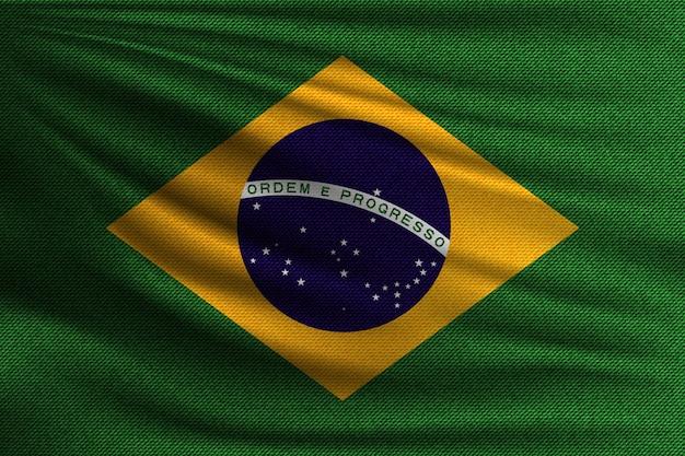 Die nationalflagge von brasilien.