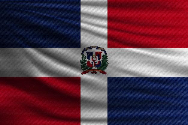 Die nationalflagge von dominicana.