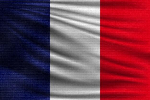 Die nationalflagge von frankreich.
