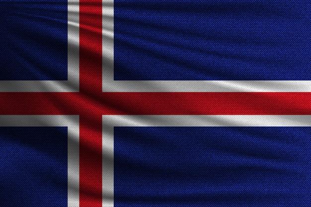 Die nationalflagge von island.