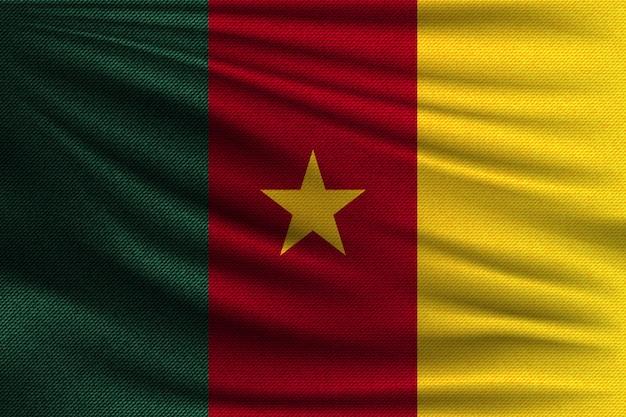 Die nationalflagge von kamerun.
