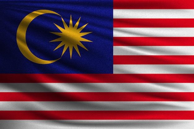 Die nationalflagge von malaysia.