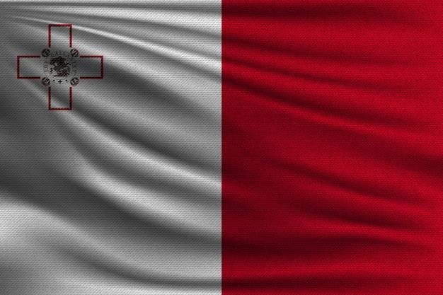 Die nationalflagge von malta.