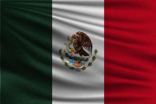Die nationalflagge von mexiko.