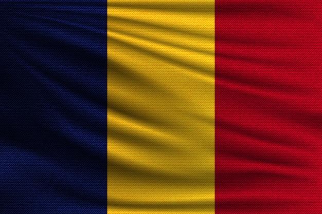 Die nationalflagge von rumänien.
