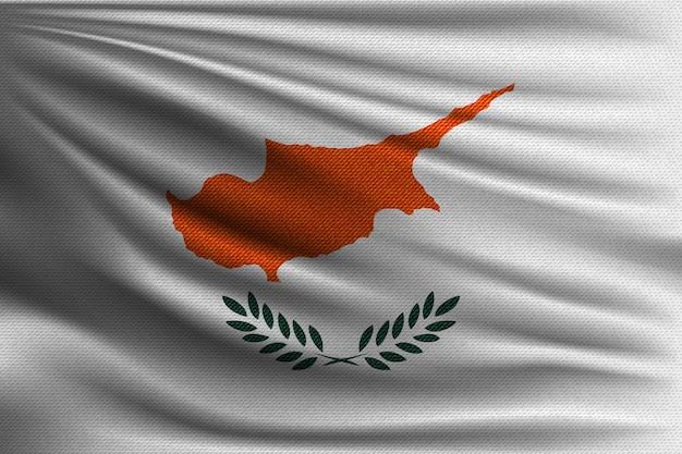 Die nationalflagge von zypern.
