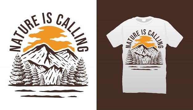 Die natur ruft t-shirt
