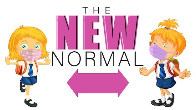 Die neue normalität mit kindern hält die soziale distanz aufrecht