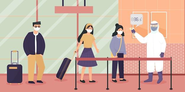 Die person, die für die überprüfung von personen verantwortlich ist, die in das land reisen.
