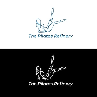 Die pilates-raffinerie-logo-vektorillustration