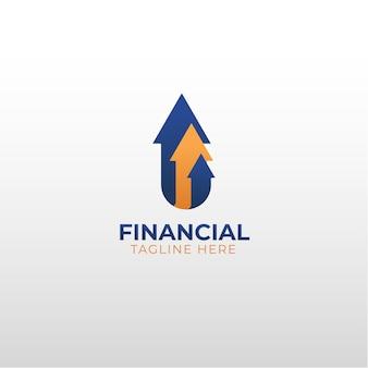 Die professionelle finanzvektor-logo-vorlage eps.10 eignet sich für ihr unternehmen, das im finanzbereich tätig ist