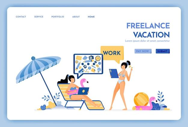 Die reise-website von freelancer holiday arbeitet weiter an der urlaubs-landingpage