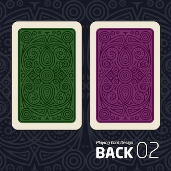 Die rückseite einer spielkarte für ein anderes spiel mit einem muster.