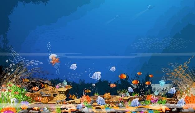 Die schönheit der tiefen unterwasserwelt