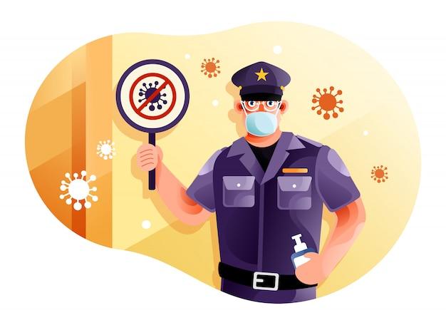 Die sicherheit warnte vor coronavirus