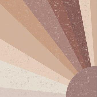 Die sonne. minimalistische wandkunst.