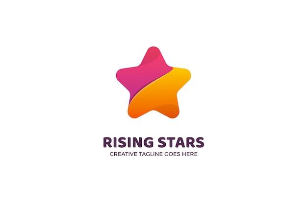 Die star gradient logo vorlage