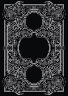 Die steampunk-poster-vorlage kann für das shirt-design verwendet werden