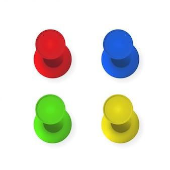 Die stifte in verschiedenen farben setzen