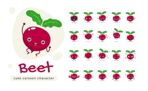 Die süße rote rübe. isolierte illustration