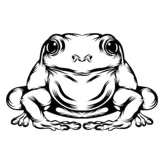 Die tattoo-animation des großen frosches mit seinem ganzen körper