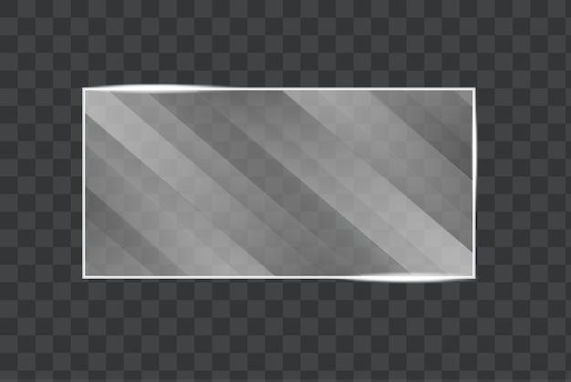 Die textur von glas, spiegeln, fenstern. quadratische glasplatte.