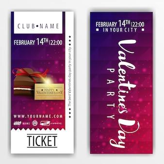 Die tickets für die party am valentinstag