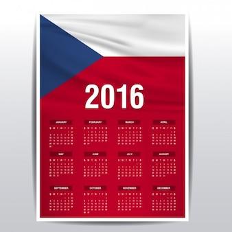 Die tschechische republik kalender 2016