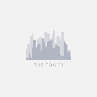 Die turm-vektor-schablonen-design-logo-illustration