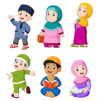 Die verschiedenen täglichen aktivitäten, die normalerweise auf dem ramadan stattfinden