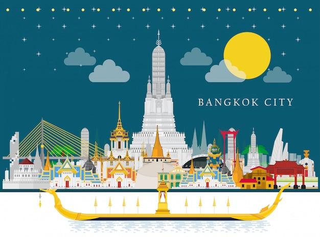 Die wahrzeichen von royal barge suphannahong und thailand