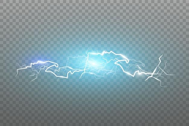 Die wirkung von blitz und licht, gewitter und blitz, symbol für natürliche stärke oder magie, licht und glanz, abstrakt, elektrizität und explosion