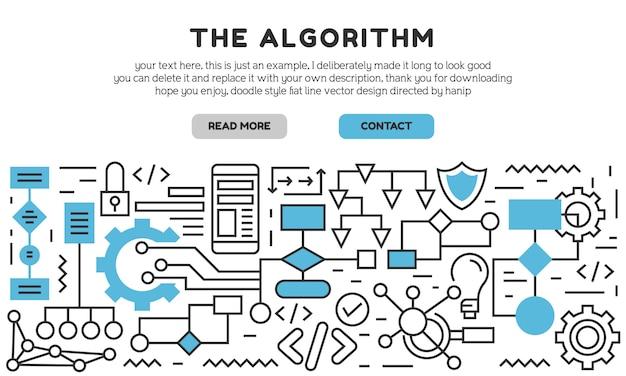 Die zielseite des algorithmus