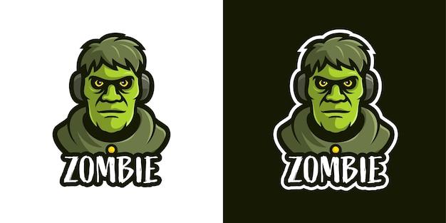 Die zombie-maskottchen-charakter-logo-vorlage