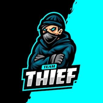 Dieb maskottchen logo esport gaming