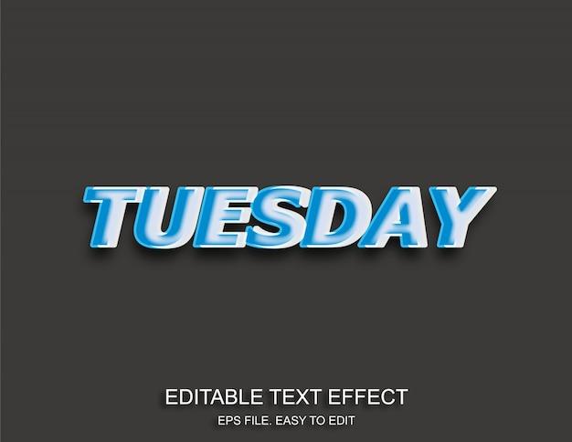 Dienstag pop-art-texteffekt