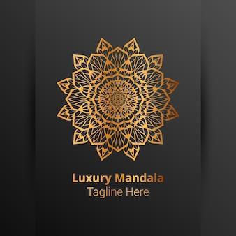Dies ist luxus dekorative mandala logo hintergrund