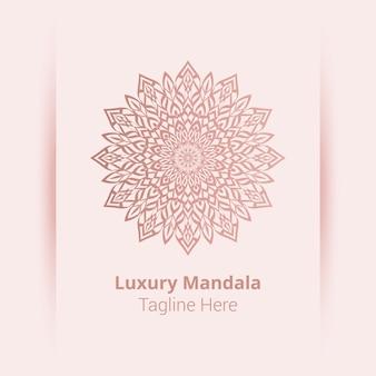 Dies ist luxus zier mandala logo hintergrund, arabeske stil.