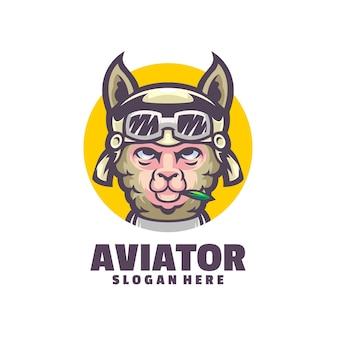 Dieses logo ist ein cooles logo eines fliegenden lamas und eignet sich für unternehmen im zusammenhang mit luftfahrtaktivitäten.