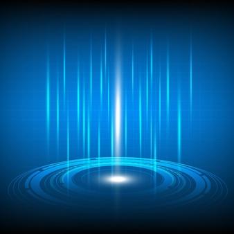 Digital-auge auf technologiezusammenfassung für sicherheitskonzept