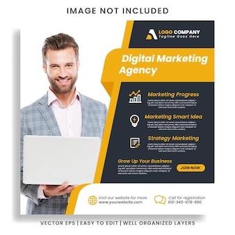 Digital business marketing agentur instagram post & web-banner